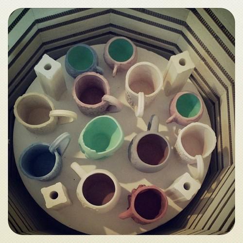 One more shelf to fill #ceramics #kiln
