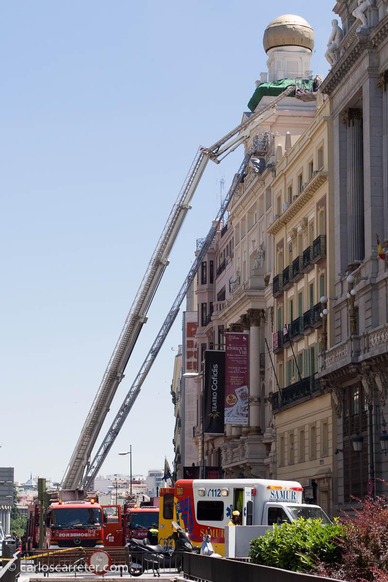 Incendio en el Teatro Alcázar (Calle Alcalá)