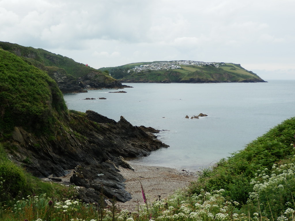 Looking back to Polruan from Combe Haven