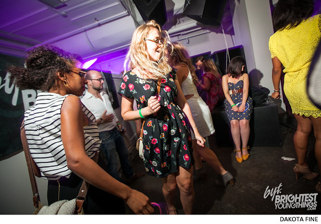 """Caroline Polachek of Chairlift guest DJs the BYT/Phillips Collection \""""UnStill Life\"""" afterparty at Malmaison in Washington, D.C. on July 11, 2013"""