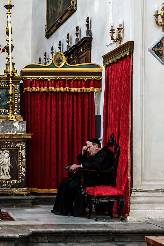 praying or bored?