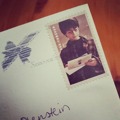 First Harry Potter stamp received!  Even though I sent a slew of these myself,  I am still very excited!