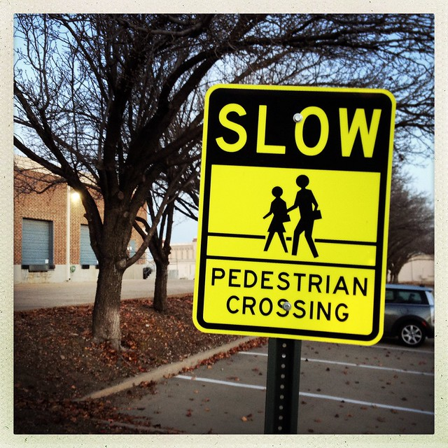 SLOW Pedestrian Crossing