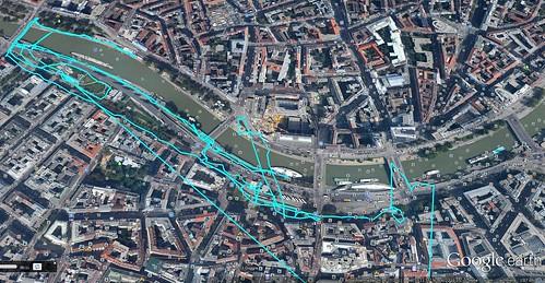 Google Earth Donaukanal Treiben