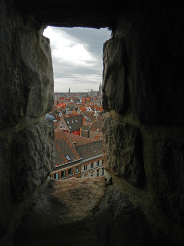 a view of Ghent from Gravensteen Castle