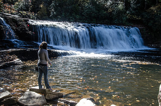 Fisherwoman at Hooker Falls