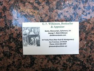 bookseller card