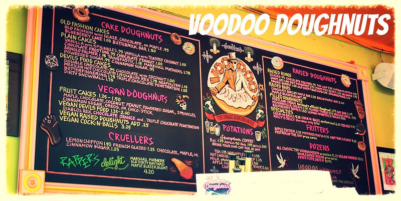 Voodoo Doughnuts Menu Portland
