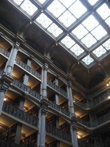 Peabody Library, Johns Hopkins University, Baltimore MD by rjknits