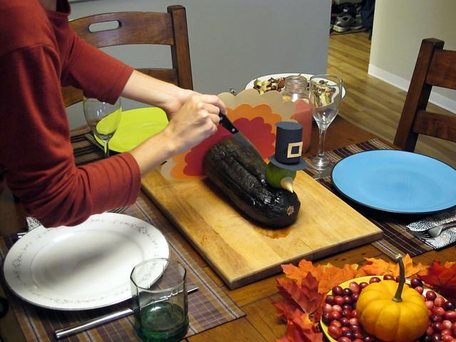 Cutting The Zucchini Bird