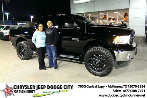 Thank you to Armando Alvarez on your new #RAM from Joe Ferguson  and everyone at Dodge City of McKinney! #NewCarSmell by Dodge City McKinney Texas