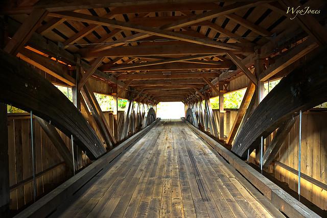 Inside the Taftsville Bridge