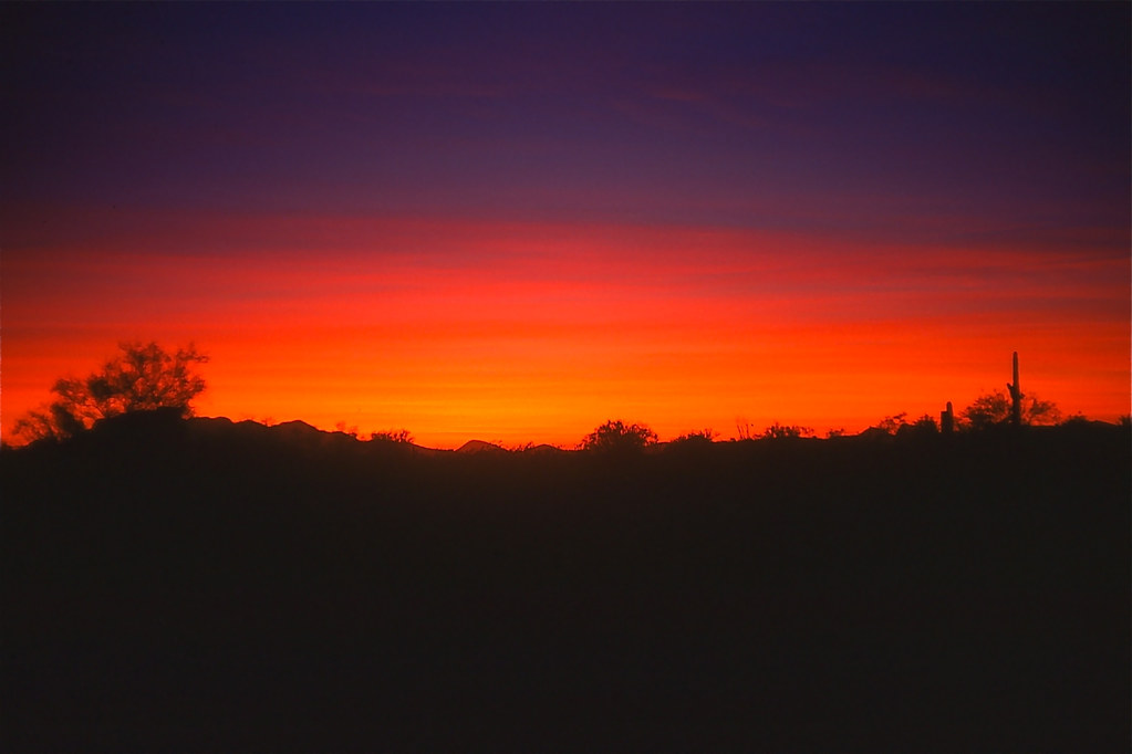 Arizona sunset ~ 1973