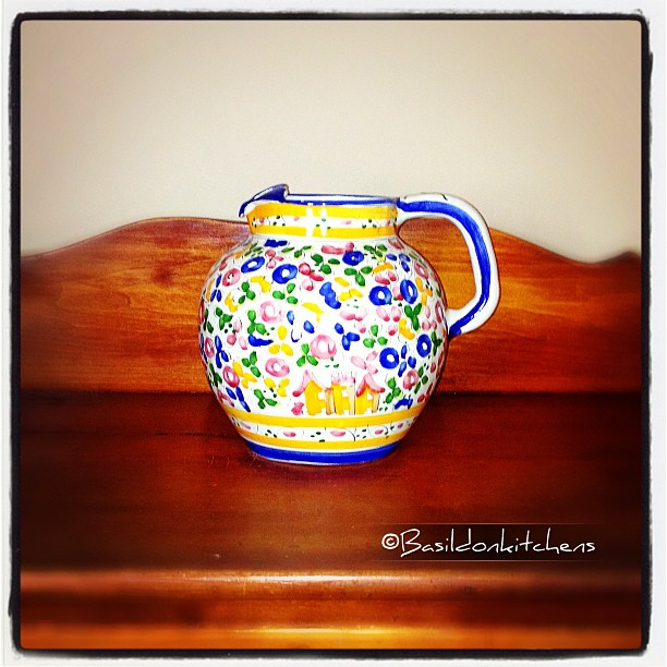 June 17 - centered {my favorite jug 'centered' on my dresser} #fmsphotoaday #centered #jug #pitcher #ceramic #portuguese #pottery