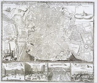 Madrid, Accurater Grundris der Königl, von Iohann Bapt. Hommans 1735