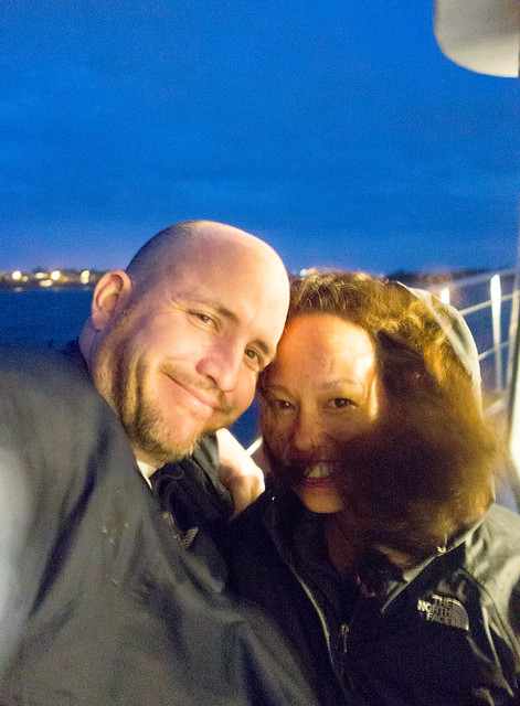 Matt and Heather riding the ferry to our hotel.