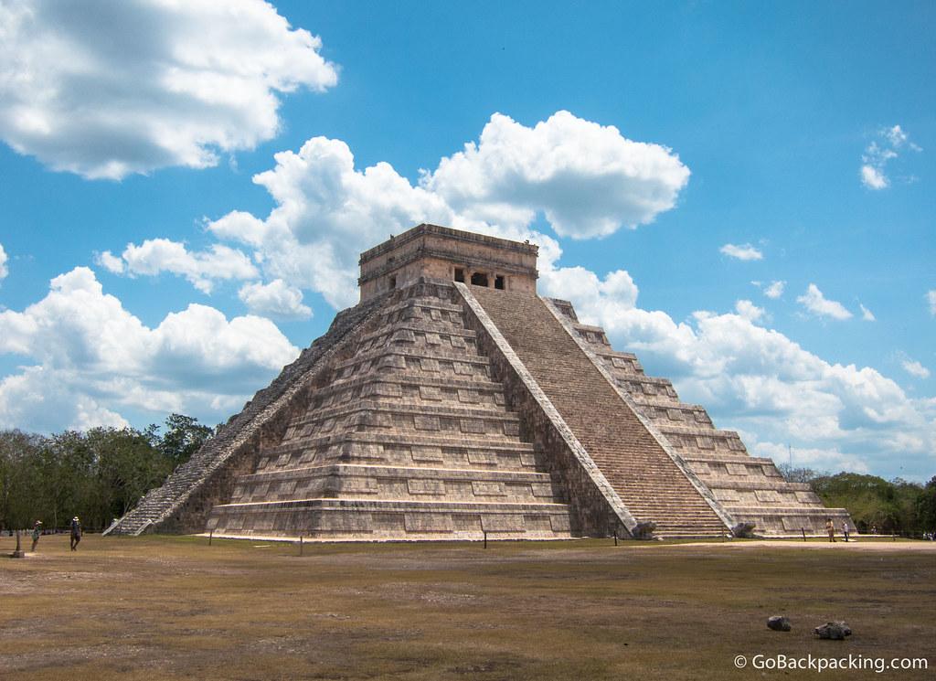 The 30-meter tall Temple of Kukulkan, known as El Castillo (