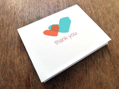 Printable Thank You Card - Two Hearts
