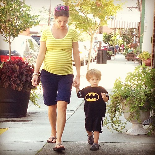 Just taking a Saturday morning stroll with Batman.