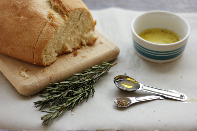 Vegan Rosemary Bread | #veggieangie