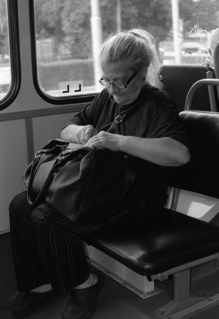 Canon EOS30 - New Scan - Old Woman in the Tram