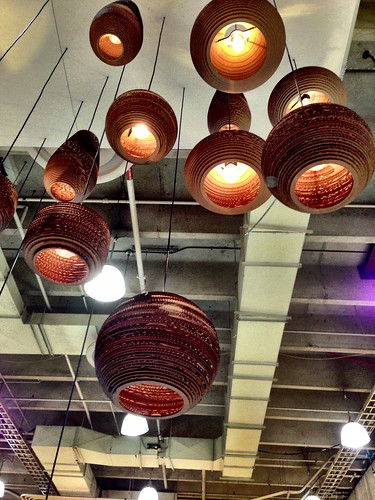 Corrugated pendant fixtures