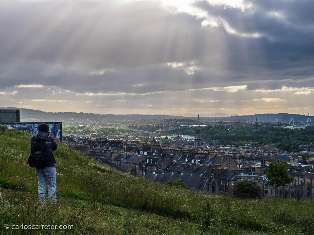 Vista la New Town desde Calton Hill