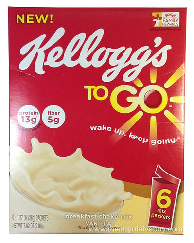 Kellogg's To Go Vanilla Breakfast Shake Mix