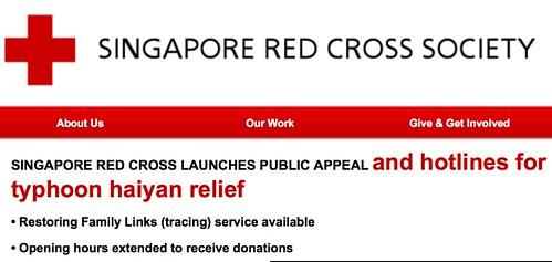 SRC Typhoon Haiyan relief