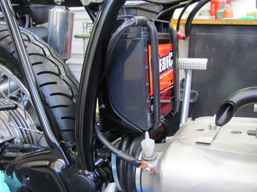 Battery Ground (-) Connection to Transmission