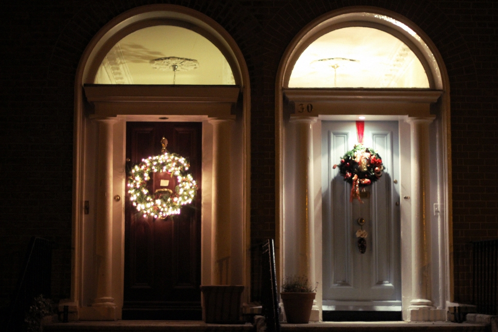 dublin georgian doors christmas