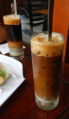 4-layer iced coffee at the ABC Bakery in Saigon