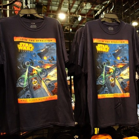 スター・ウォーズ・ウィークエンド2014のTシャツ。