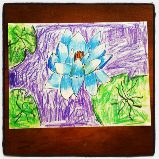 Water lily by Annika...age 6 :-)
