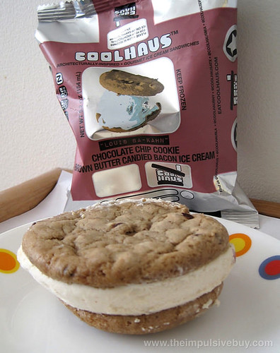 Coolhaus Louis Ba-Kahn Chocolate Chip Cookie + Brown Butter Candied Bacon Ice Cream In the shadow of the wrapper