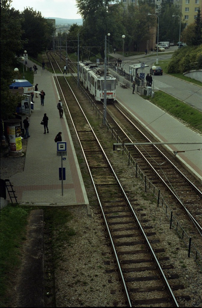 Kiev 4 - New Scan - Tram Stop from Above