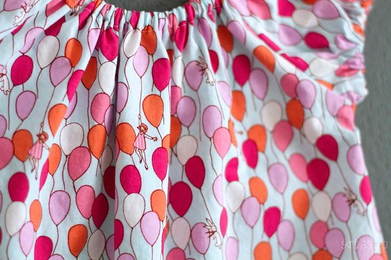 bunnies and balloons sweet little dress