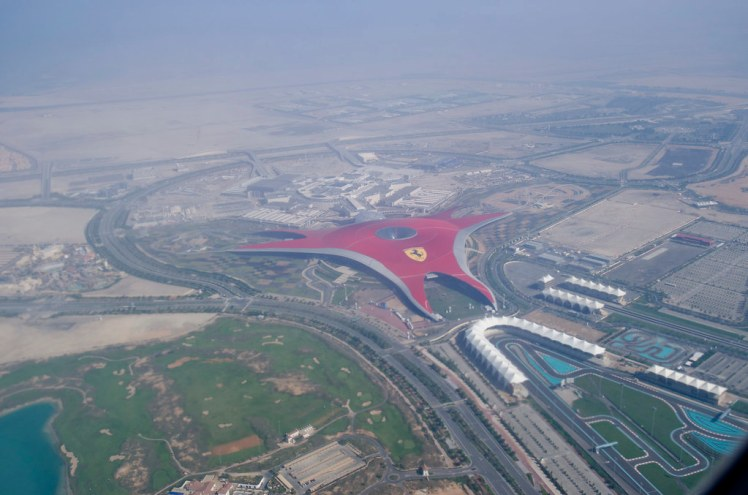 Ferrari world from the air