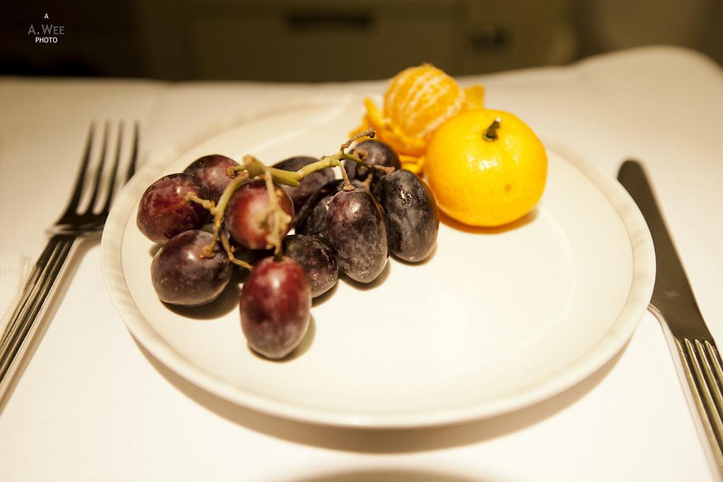 Orange and grape