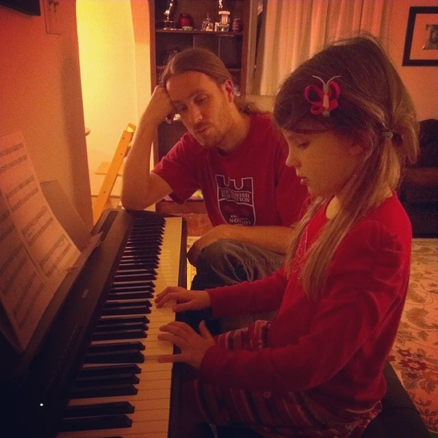 Love is practicing piano with your child after a 15 hour work day. #reallove #valentinesday