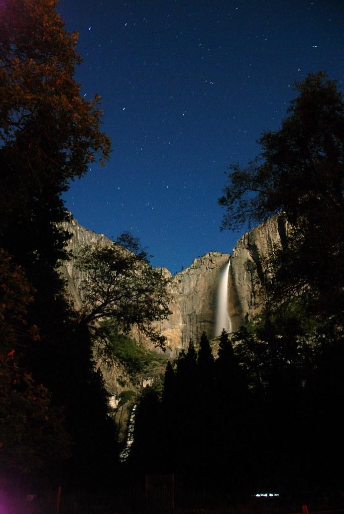 Yosemite Falls in the night