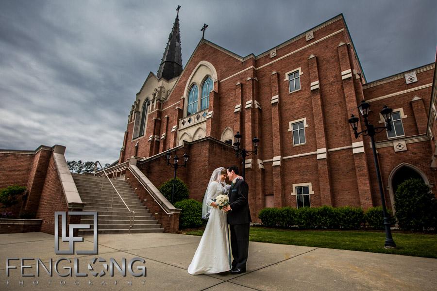 Atlanta Catholic Wedding Saint Brigid Church