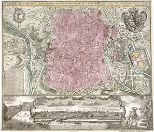 Madritum sive Mantua Carpetanorum - Lotter, Tobias Conrad entre 1756 y 1777? copia de los publicados por M. Seutter