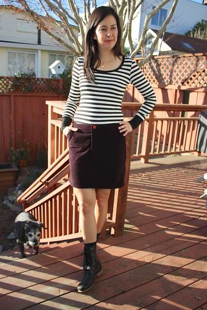 Moss skirt and Renfrew top