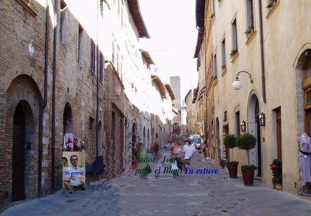 Calle_entrada_San_Gimignano pueblo de torres medievales