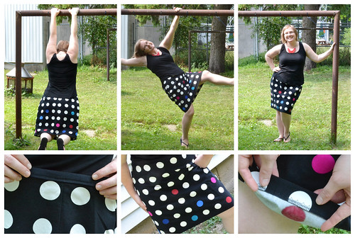 poka dot skirt Collage