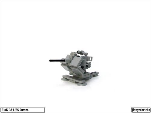 FlaK 38 de 20mm. de Panzerbricks