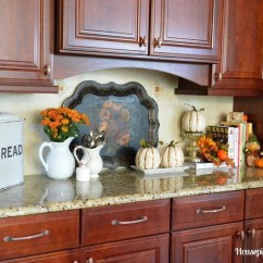 Fall Kitchen Decor Best Way To Refinish Cabinets Tour My New Sponsor And A Giveaway