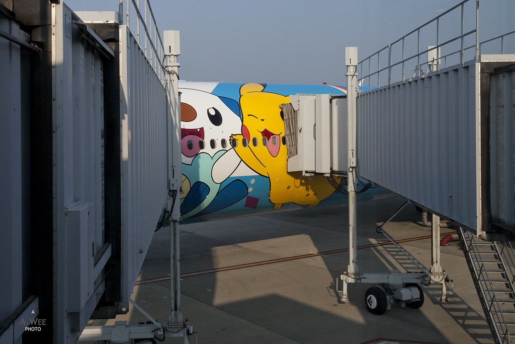 Boarding the Pokemon Jet