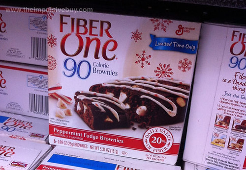 Limited Time Only Fiber One Peppermint Fudge Brownies
